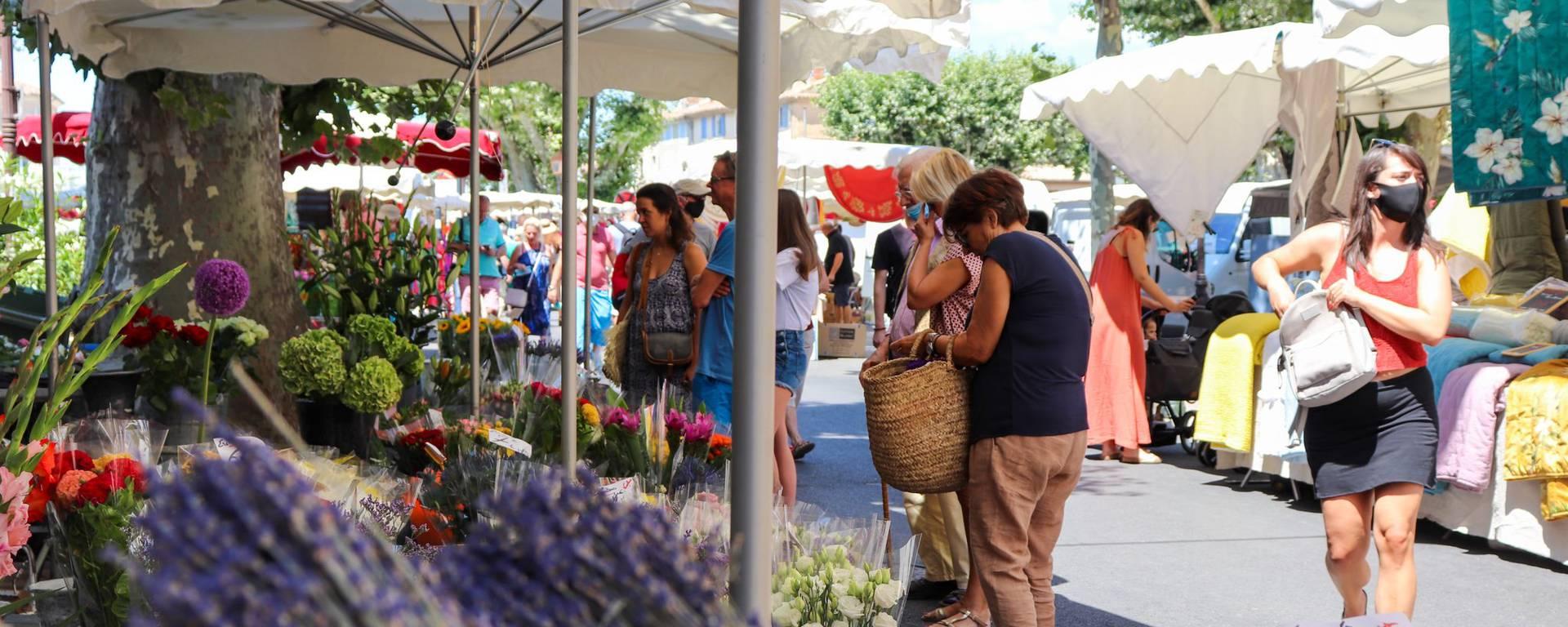 Marché d'Apt | Luberon - Place de la Bouquerie | Étals | Fleurs