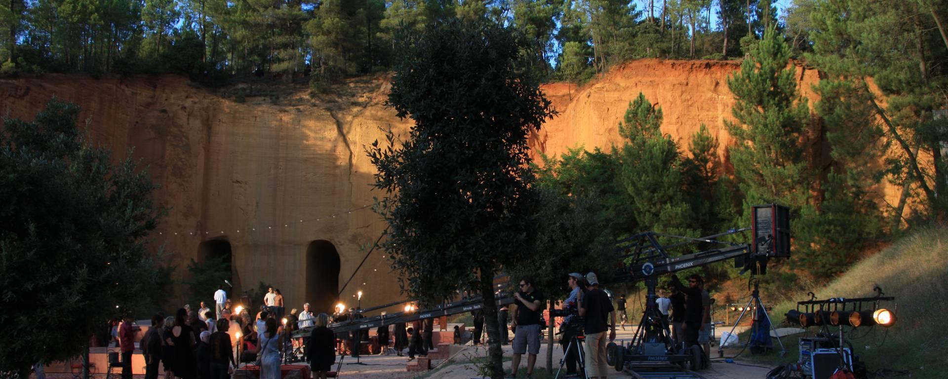 Luberon Vaucluse Colorado cinéma télévision film mines de bruoux Roméo et Juliette