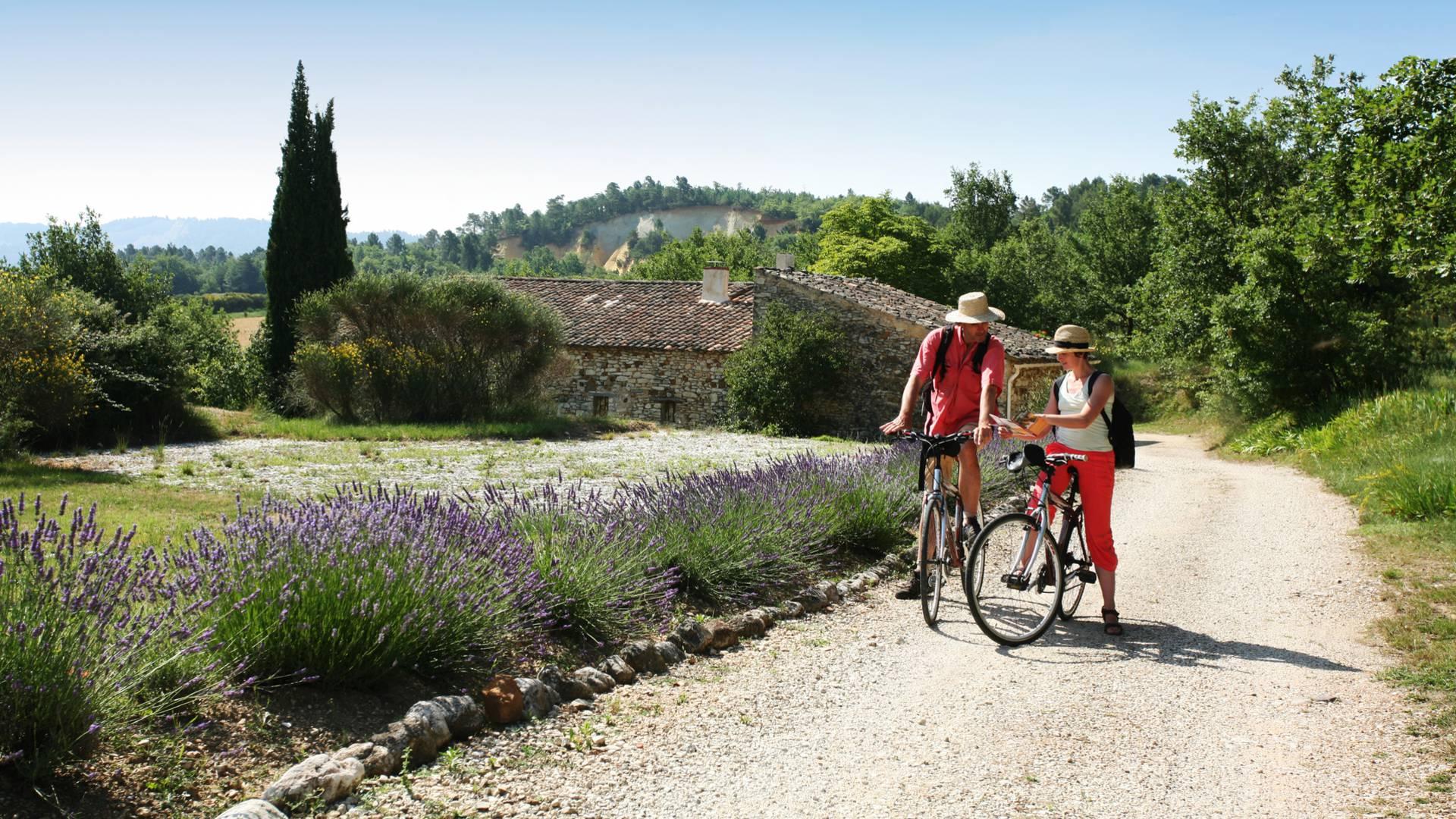 Le vélo et VTT en Luberon