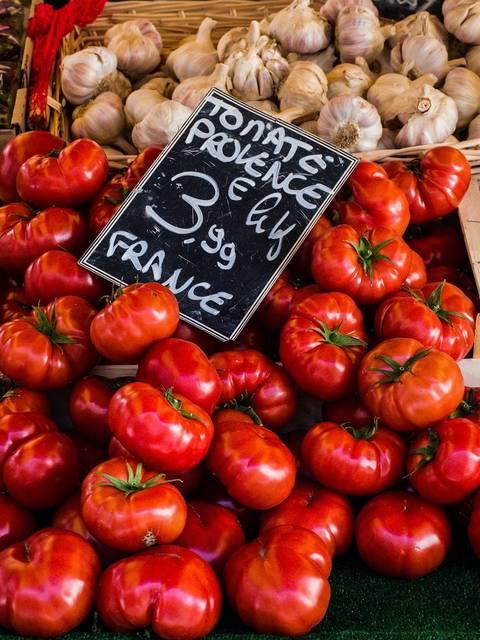 Tomates | Marché du Luberon | Étales du marché