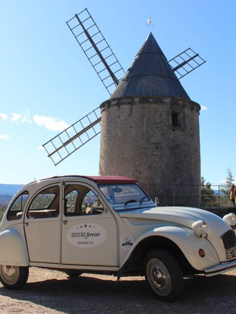 Moulin | Virée | Joucas | Luberon | 2CV | Voiture |