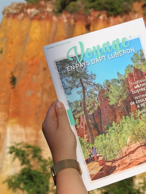 Voyage magazine du Pays d'Apt Luberon dans les ocres