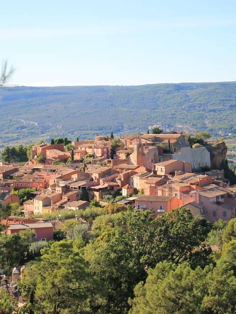 Plan touristique de Roussillon