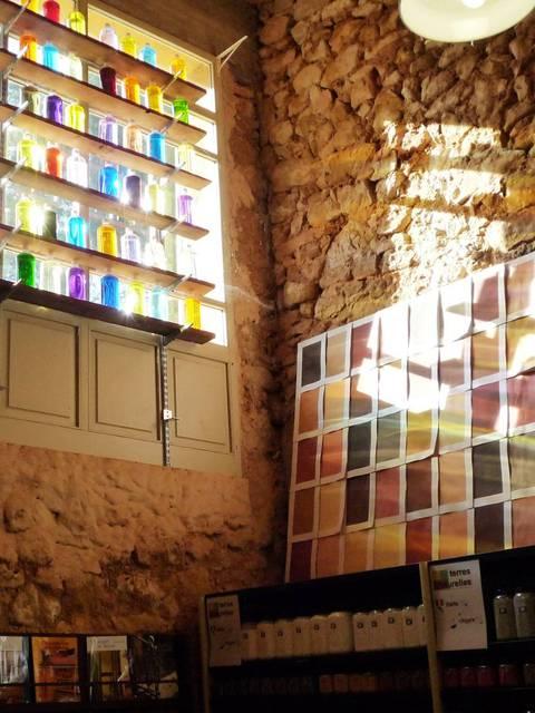 Usine d'ocre Mathieu à Roussillon