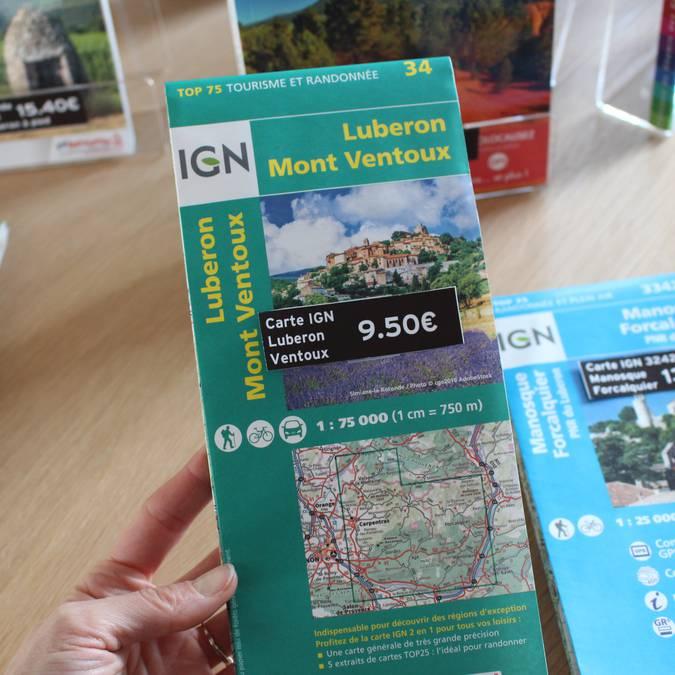 Carte de randonnées | Luberon