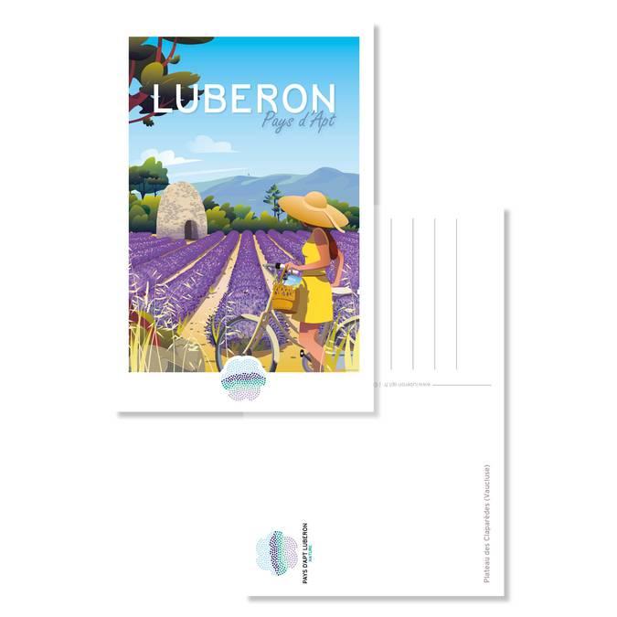 Carte postale vintage lavande