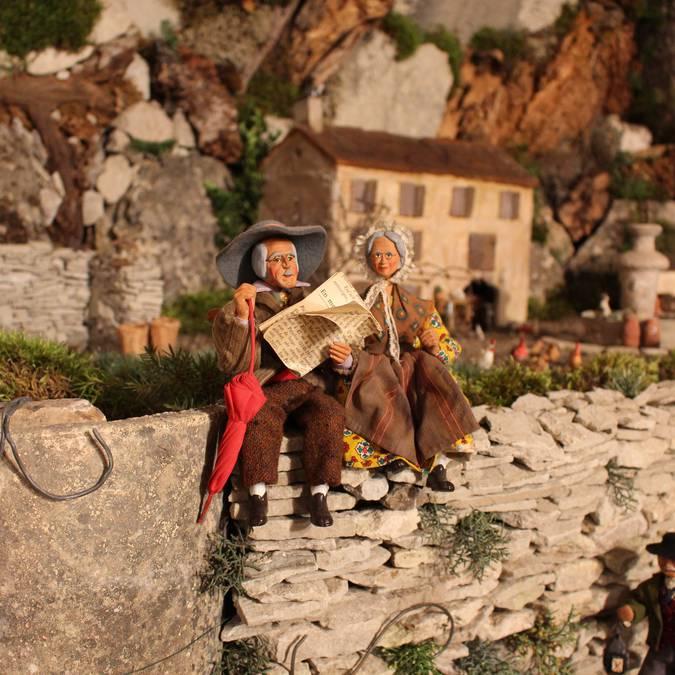 Crèche provençale et santons