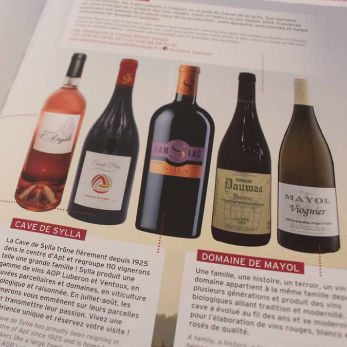 Page   Magazine   Ocre   Vin   Bouteilles