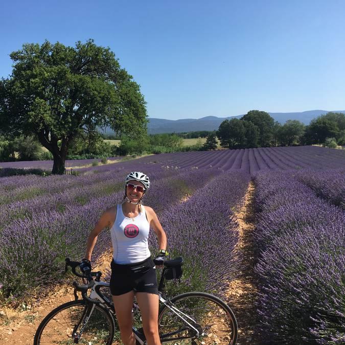 Champs de lavande du Luberon | Femme | Vélo