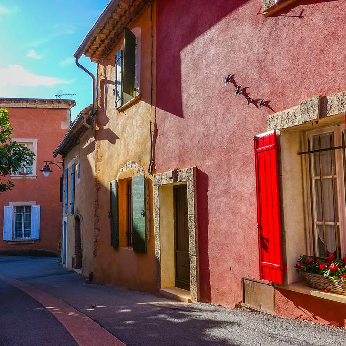 Roussillon |Plus beaux village de France | Maison | Façades colorées | Village