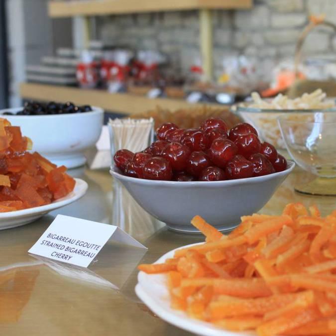 Cerise bigareau | Fruits Confits | Orangettes