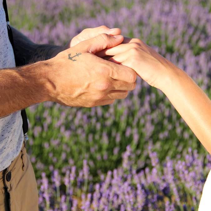 Mains | Demande en mariage | Lavande