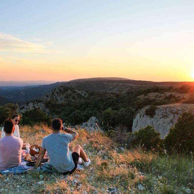 Verre de vin du Luberon | Sunset |Coucher du soleil | Pique-Nique