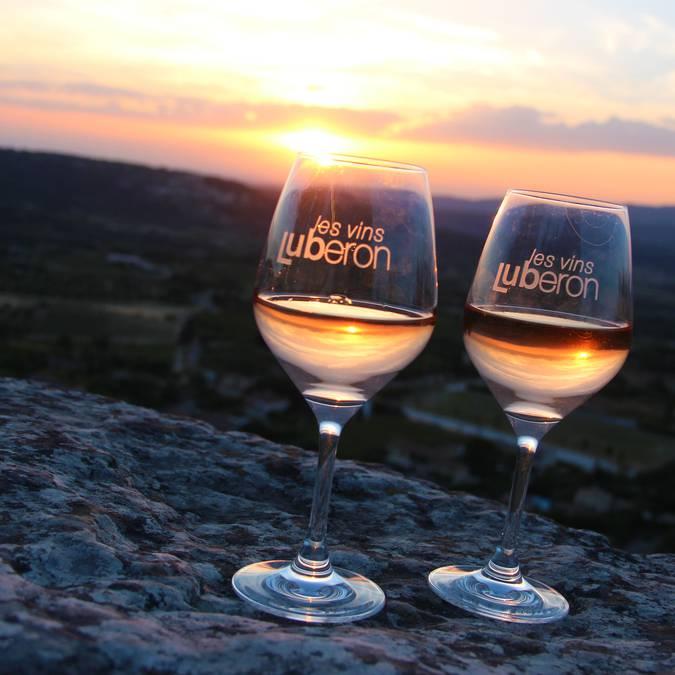 Verre de vin du Luberon | Sunset |Coucher du soleil