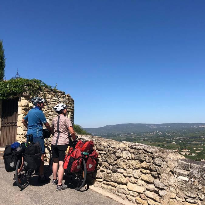 Cycliste   vue   Ventoux