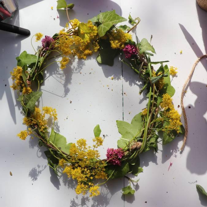 Couronne de fleurs | Création | Fleurs